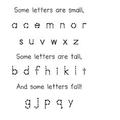 Some Letters are Small poetry page and pocket chart.  This is great for letter recognition and sorting letters by attribute.  Students read poem in...