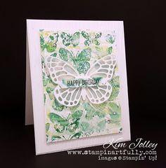 Butterflies, embossing folder stampin, tranquil tide, lemon lime twist, Stampin Up