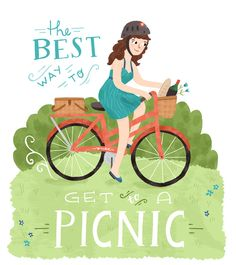 The best way to get to a picnic. #keen #recess #bicycle