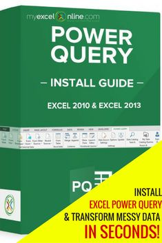 How to install Excel's latest powerful feature: Power Query!   Learn Microsoft Excel Tips + Free Excel Tutorials & Cheat Sheets    The Most In-Depth Excel Video Courses Online at http://myexcelonline.thinkific.com/
