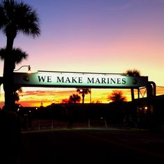 Parris Island, South Carolina Took a picture with Grace here!