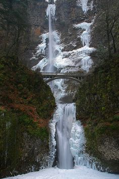 Winter Icestorm, Multnomah Falls, Columbia River Gorge National Scenic Area, Oregon