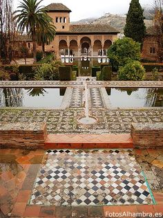 Alhambra de Granada (Spain)  Moorish palace built during 14th and 15th century.