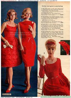 60 Fashion, Retro Fashion, Vintage Fashion, Fashion Outfits, Christmas Catalogs, Christmas Books, Fashion Marketing, Christmas Fashion, Classy Dress