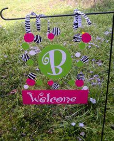 Personalized Acrylic Garden Flag $15 Facebook.com/clippiekins