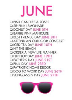 National Holidays: Welcome to June and #SUMMERINTHEGLAMPIRE!