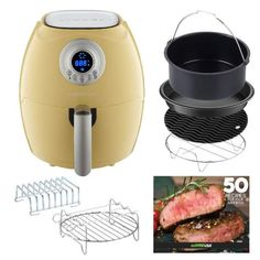 Looking for GoWISE USA Air Fryer + 6 Piece Accessory Set (Mint) ? Check out our picks for the GoWISE USA Air Fryer + 6 Piece Accessory Set (Mint) from the popular stores - all in one. Coffee Table Desk, Lift Top Coffee Table, Yellow Kitchen Accessories, New Kitchen Gadgets, Crispy Fried Chicken, Yogurt Maker, L Shaped Desk, Homemade Yogurt, Wooden Kitchen
