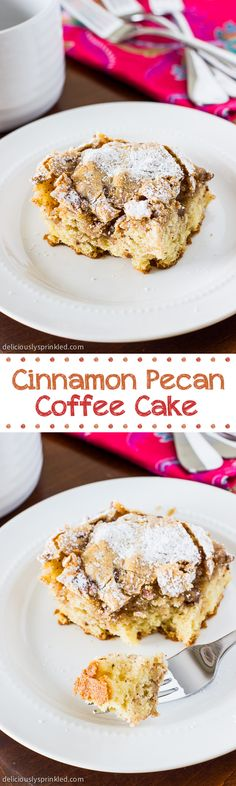 There is just something special about coffee cake. Read and PIN you'll be glad you did.  Cinnamon Pecan Coffee Cake