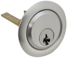 National Hardware V7650 Garage Door Dead Bolt Rim Cylinder, Aluminum, 3-1/8-Inch Long 2-Inch Long Shaft by National. $6.54. From the Manufacturer                This is the replacement lock cylinder to a deadbolt lock system that is mounted in the center of the door. It has a long lasting and attractive aluminum finish and includes two keys. This is a replacement part to be used with an existing dead bolt, pivot plate and locking arms.                           ...