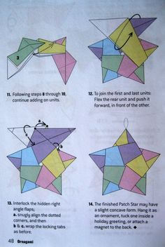 Origami Directions for A Five Pointed Star | Dolce Bellezza