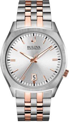 9e386855d58 Bulova Accutron Ii Men s Surveyor Two-Tone Stainless Steel Bracelet Watch  41mm 98B220 Relógios Com