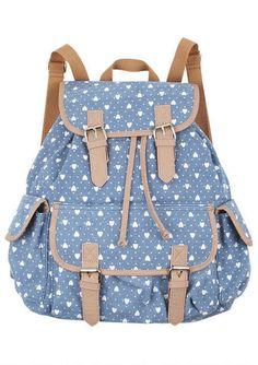 Printed Canvas Backpack!! I want!!