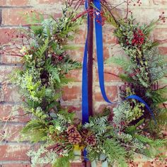 Fresh evergreen wreath {Botany Floral Studio}