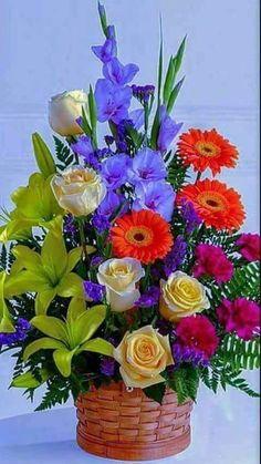 """Képtalálat a következőre: """"funeral flower arrangements"""" Basket Flower Arrangements, Funeral Flower Arrangements, Beautiful Flower Arrangements, Flower Vases, Floral Arrangements, Church Flowers, Funeral Flowers, Fleurs Diy, Cemetery Flowers"""