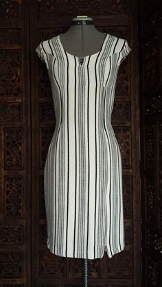 Black and white dress for women / Formal elegant dress / Pencil dress / Bodycon dress/ Neoprene Scuba dress Scuba Dress, White Dresses For Women, Pencil Dress, Handmade Clothes, Short Dresses, Bodycon Dress, Casual, Black And White, Elegant