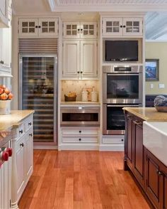 dream kitchen-really like stainless steel appliances, plus a wine fridge would always be awesome! Although we probably wouldn't need one that large...