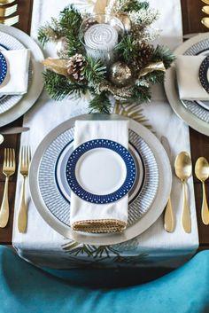 Christmas Table setting and Tabletop Decor