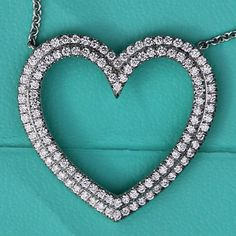 Tiffany Co Metro Large Diamond and Gold Heart Follow me on insta @bdwatches for updated deals on jewelry and cool pictures. Tiffany Co Metro Large Diamond and Gold Heart white gold. Face to face price is $3.800.00 Tiffany & Co. Jewelry