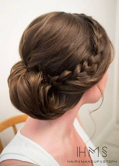 Classic side brain into twisted low knot ~~ 45 Glamorous Wedding updos for long and medium hair