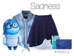 """""""Sadness"""" by megan-vanwinkle ❤ liked on Polyvore featuring Chicnova Fashion, Disney, QNIGIRLS, Kate Spade, Dorothy Perkins, Converse and insideout"""