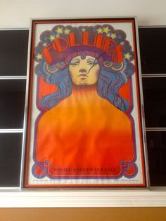 Follies Original Broadway Theatre Lithograph Framed David Edward Byrd