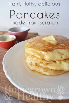 Better than bisquick! It's light, fluffy and delicious //  idk about better than bisquick cause im a big fan but they are good for your pancake fix!