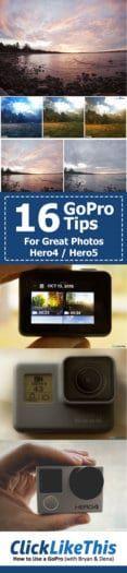 16 GoPro shooting tips