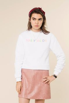 Rad | Marshmallow Crew neck sweatshirts - THROWBACK EVERYDAY