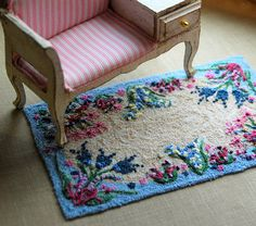 karthur dollhouse littles etsy.com dollhouse embroidered rug