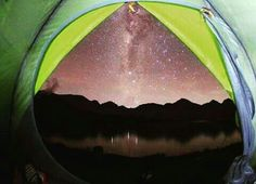 A view milky way from inside our milky way tent series.