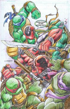 TMNT vs Deadpool by emilcabaltierra.deviantart.com on @deviantART