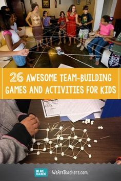 26 Awesome Team-Building Games and Activities for Kids. Team-building exercises … 26 Awesome Team-Building Games and Activities for Kids. Classroom Team Building Activities, Building Games For Kids, Team Activities, Teaching Activities, Trust Building Activities, Community Building Activities, Activity Games, Activities For Youth, Teacher Team Building