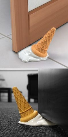 """Do you know """"ice cream"""" can be door stopper?"""