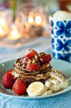 Walnut pancakes by Hummus & Pannkaka