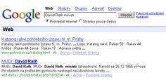 vyhledávání Google: David Rath ministr - jó, to byly časy (31. března 2006) :*)))
