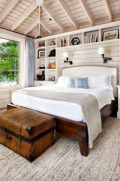 białe ściany drewniany sufit - Szukaj w Google