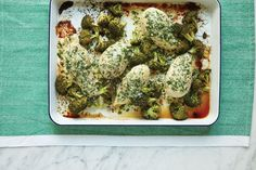 One-Pan Parmesan Crusted Chicken With Broccoli
