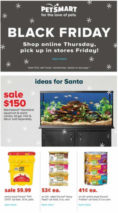 The PetSmart Black Friday ad scan has surfaced online and it features 10 pages worth of deals in View the ad and discuss your favorite deals. Black Friday Ads, Black Friday Shopping, Online Shopping Deals, Fashion Deals, New Tricks, Cyber Monday, Pets, Coupons, Lynch