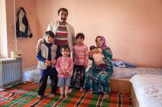 PHOTO: Afghan refugee family in Bulgaria in early April