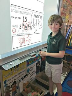 I love these number chats for first grade.  Students can do a number talk and share math strategies together as a warm-up!
