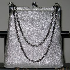 50s 60s 70s Vintage Cloth Silver Purse with by ExpertImageVintage, $19.99