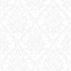 Fine Decor Athena Damask Wallpaper White - Fine Decor from I love wallpaper UK