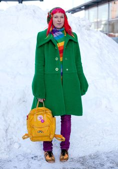 """""""My favourite colour is rainbow. I like floral, butterfly and rainbow prints and fairy-like looks.Red hair was my dream since I was 15.I make clothes myself and shop at thrift stores."""""""