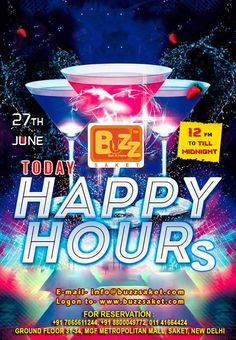 Monday Happiness !! Someday's you just need a drink! On your odd days,Make it a good one with Happy Hour at Buzz Saket buy one get one drinks free from 12pm to till Midnight...We'll see you for a cocktail...Cheers!  #Monday #Happybours #Offer #Discount #Bar #Beer #Club #Booze #Drink #Drinkup #Buzz #Food #Buzzsaket