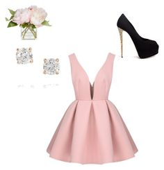 """""""Skater Dress"""" by hailey70707 ❤ liked on Polyvore featuring Giuseppe Zanotti and Anita Ko"""
