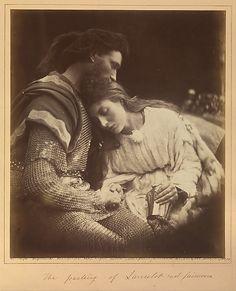 The Parting of Lancelot and Guinevere Julia Margaret Cameron (British (born India), Calcutta 1815–1879 Kalutara, Ceylon). Metropolitan Museum of Art.