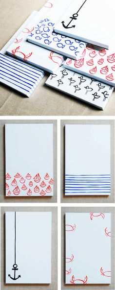 Cute, minimalistic patterns on a canvas... Love the theme, too. :)