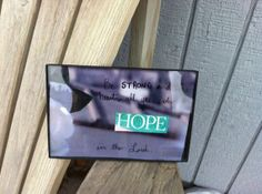 "$7 ""Be strong and take heart, all you who hope in the Lord"". Bible verse framed art on sale on this site-so affordable and inspiring!"