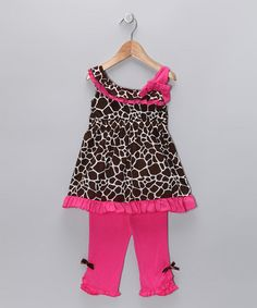 Take a look at this Pink Ruffle Swing Top & Capri Pants - Toddler  by Kids Headquarters on #zulily today!