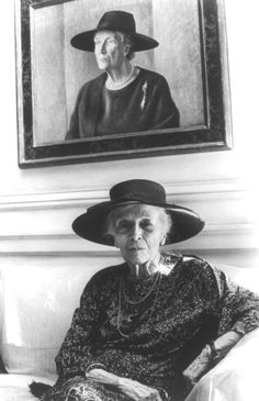 Alice Roosevelt Longworth, 1884-1980.  Teddy's daughter. From what I've read she was quite a character, and she grew up to be the Grand Dame of DC society.